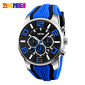 Six Pin Stopwatch Chronograph Sports Watches Men Waterproof Silicone Quartz Watch SKMEI Brand Fashion Casual Men's Wristwatches
