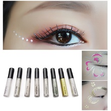 Hengfang Hot Color Pencils Eye Liner Makeup Natural Waterproof Shimmer White Gold Silver Make Up Liquid Shining Glitter Eyeliner