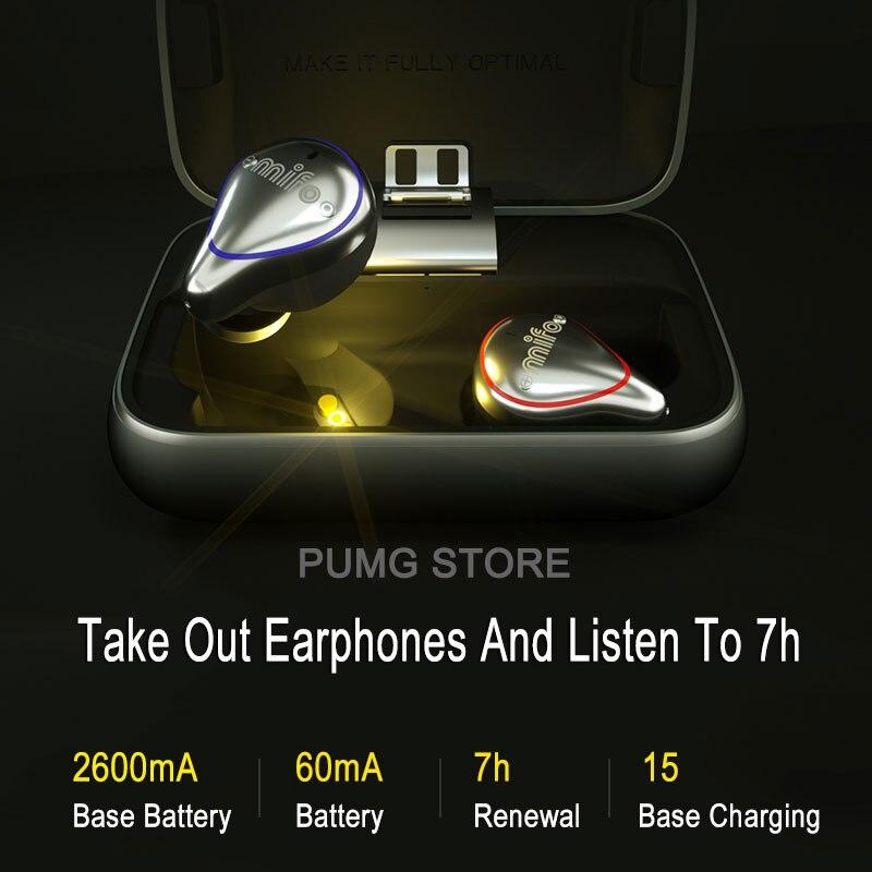 Mifo Bluetooth 5.0 véritable sans fil écouteurs étanche Bluetooth écouteurs sport stéréo son écouteurs avec boîte de charge pour téléphone - 4