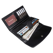 Pearl fish leather handbag wallet business phone bag multi-card wallets mens women purse