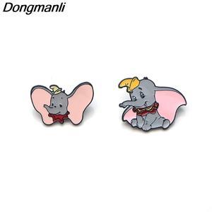 Dongmanli Enamel Brooches For Women Men Lapel Pin Badge