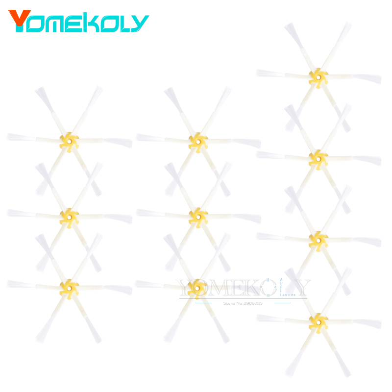 10pcs Side Brushes Kit For iRobot Roomba 500 600 700 Series 540 550 560 570 580 650 760 770 780 Vacuum Cleaner Replacement Set free post new 3 pieces 6 arms sidebrush for irobot roomba 500 600 700 series side brush 550 560 570 630 650 760 770