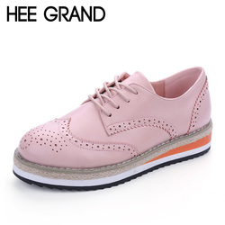 Hee grand brogue shoes woman candy colors platform women oxfords british style creepers cut outs flat.jpg 250x250