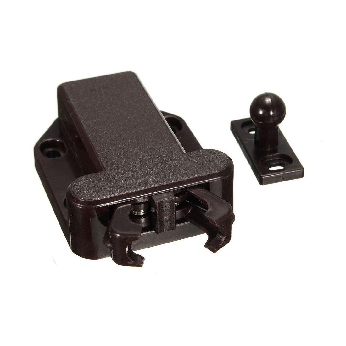 2X Push To Open Beetles Drawer Cabinet Latch Catch Touch Release Cupboard Brown push to open beetles drawer cabinet latch catch touch release kitchen cupboard new arrival high quality