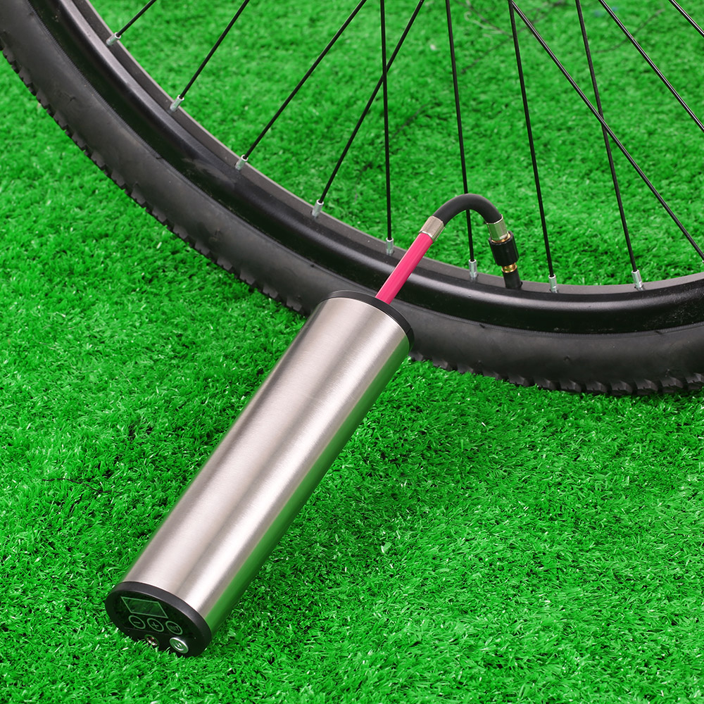 Rechargeable Electric Portable Bicycle Bike Pump Tire Inflator With Lcd Display