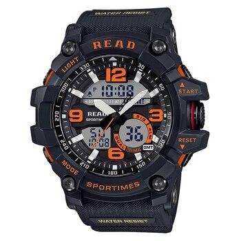 Tezer 90001 superior de la marca de lujo de Digital militar reloj inteligente de los hombres a prueba de agua S Shock reloj alarma recordatorio de смарт часы para los hombres