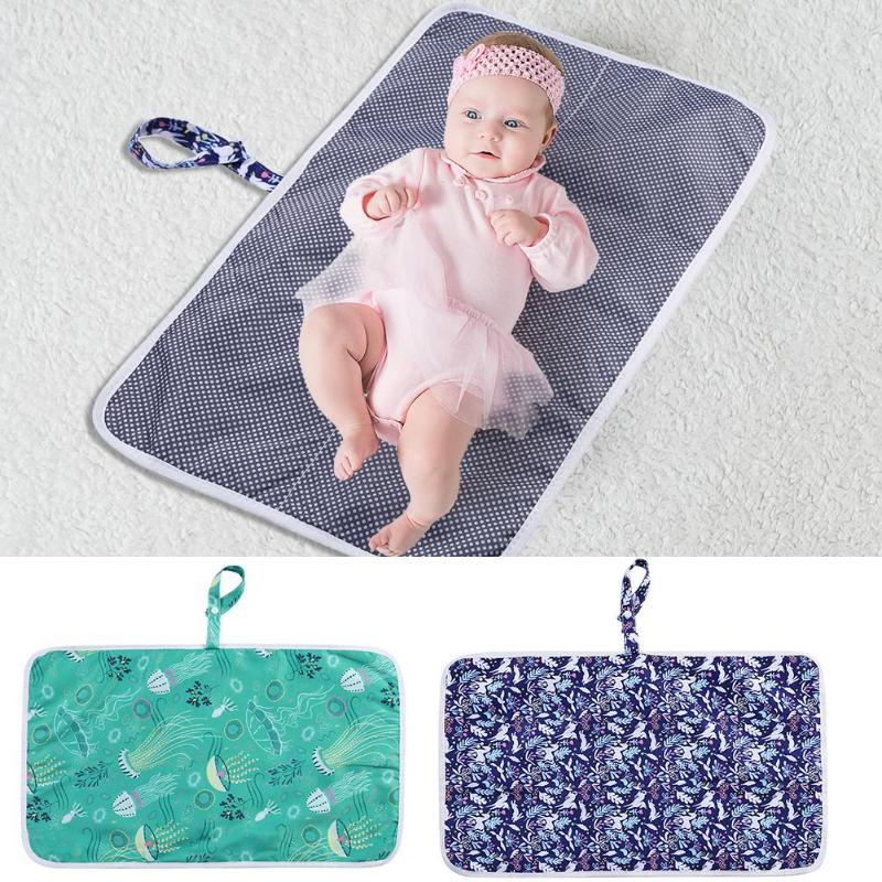 Baby Foldable Waterproof Diaper Nappy Changing Mat Mummy Bag Accessories Baby Care Props Diaper Pad Kids Nappy Pad For Mummy
