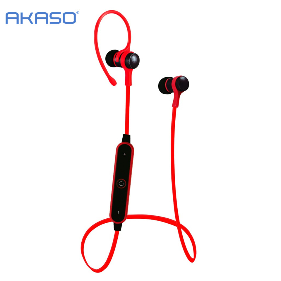 AKASO AKASO Sport Wireless Bluetooth Headphone Earphone Headset With Microph adsorbable magnet Non slip For Outdoor