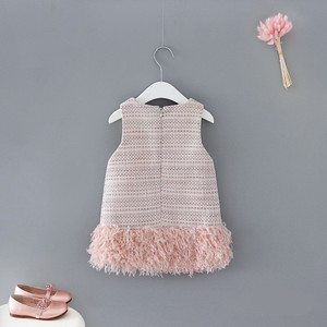 Image 2 - תינוק בגדי ילדים בנות חדש שנה בגדי ילדים שמלות בנות בנות אופנה 2019 חדש חמוד טלאים וסטים שמלת נסיכה