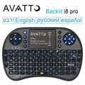[Avatto] i8 Pro Retroiluminación retroiluminada Gaming Wireless Mini Keyboard Air Mouse con Panel Táctil Para Android Smart TV Box IPTV Portátil PC