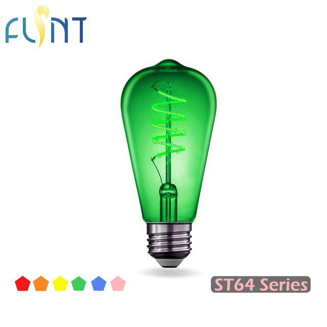 edison led filament ampoule e27 rose rouge bleu vert jaune. Black Bedroom Furniture Sets. Home Design Ideas
