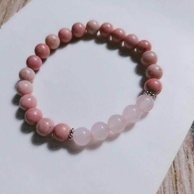 Bracelet Rhodonite Et Pierre De Lune