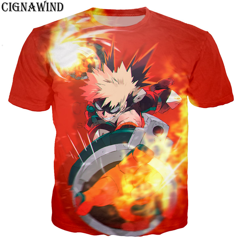 Men's Clothing 2019 Latest Design Hottest Anime Print Tshirt For Boy Savage Ultra My Hero Academia Men Cool T Shirt High Quality Clothes Streetwear Hombre Newest