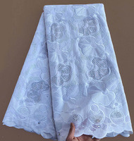 Wise Choice 5 Yards African Swiss Lace Voile Lace Cotton 100 Sewing Fabric High Quality