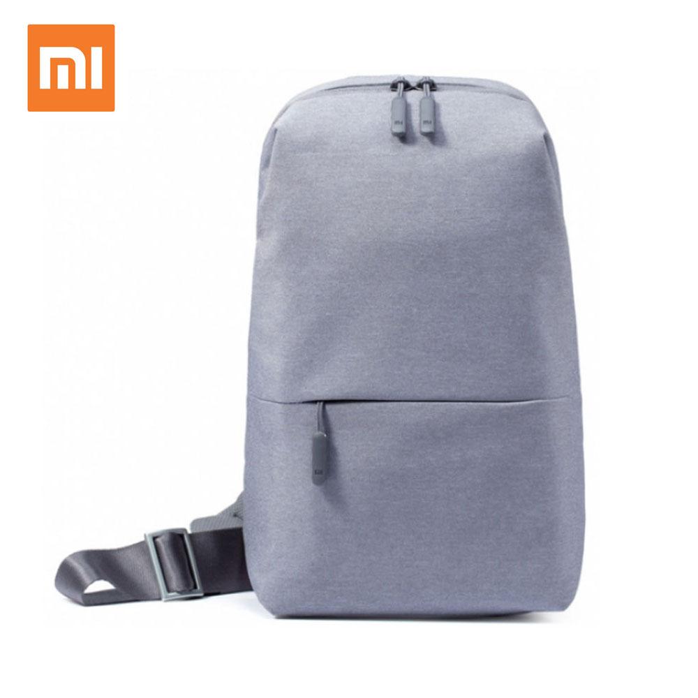 XIAOMI MI mochila ocio urbano bolsa de pecho para hombres mujeres tamaño pequeño Tipo de hombro Unisex mochila para mi bolsas de teléfono