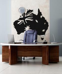 Image 1 - Decalque da parede de vinil adesivo austrália bandeira mapa arte deco adesivo sala estar quarto decoração casa 2dt10