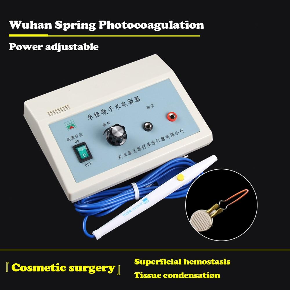 Double Eyelid Electrocoagulation Hemostatic Pen Wuhan Chun Photoelectric Coagulator Unipolar Hemostasis Superficial Burning Devi