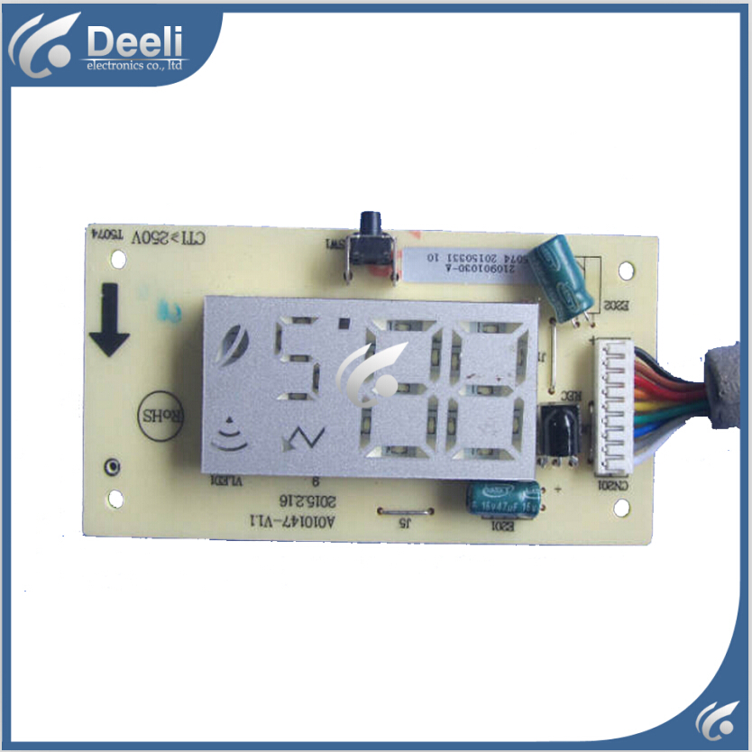 95% new good working for TCL Air conditioning display board remote control receiver board plate A010147-V11 cs3310 remote preamplifier board with vfd display 4 way input hifi preamp remote control digital volume control board