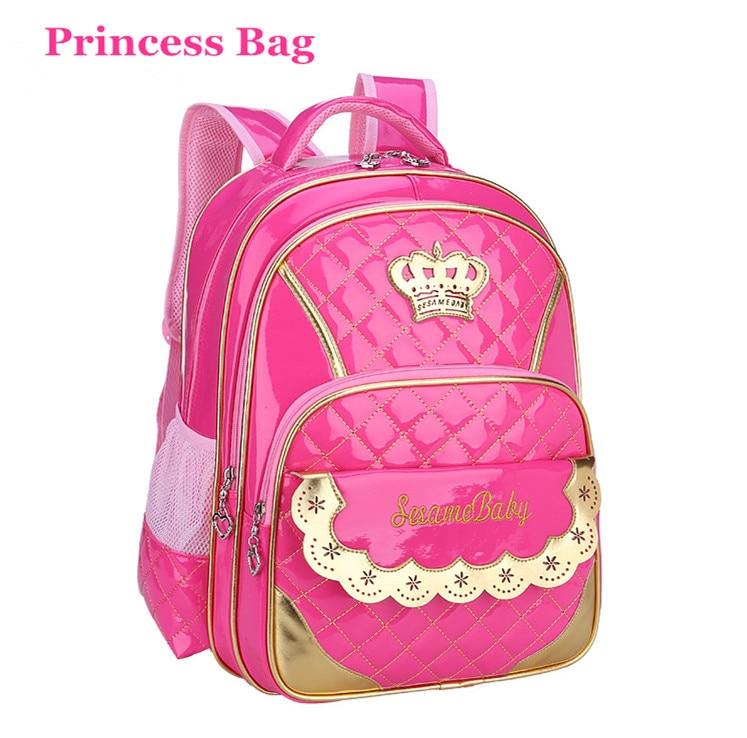 Princess Crown Children Bags For Girls Primary School Bookbag Grade 1 4 Kids School Backpack Girl Boy School Bags Sac Enfant