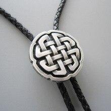 Винтажный стиль антикварный посеребренный крест узел Галстук боло ожерелье также есть в США BOLOTIE-WT070SL