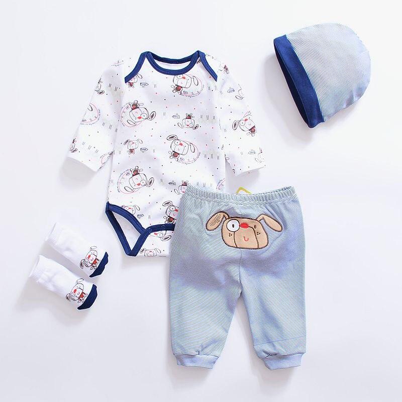 2017 Cartoon Animal Baby Clothing Sets Cotton Baby Boy