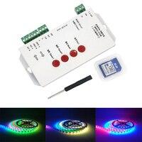 WS2812B WS2811 Светодиодные ленты Управление Лер T1000s SD карты 2048 точки пиксель света Управление Лер WS2801 LPD6803 LED IC Управление