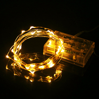 LED String Light Silver Wire 10pcs/lot 5M 50leds DC4.5V Battery Operated Fairy Lights Christmas New Year Wedding Lights