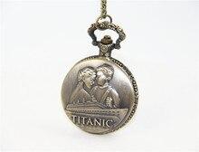 Модные ювелирные изделия, винтажные очаровательные карманные часы Jack And Rose Titanic, ожерелье для женщин