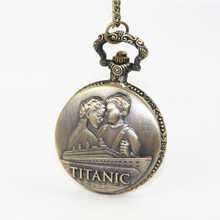 Fashion Jewelry Vintage Charm Jack And Rose Titanic Pocket Watch