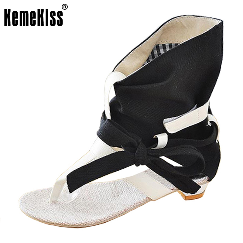 KemeKiss Big Size 34-43 Fashion Women Gladiator T straps Flat Heel Sandals Summer Shoes Brand New Casual Dress Chic Sandals S236 34 43 big small size new 2016 summer fashion casual shoes moccasins bottom shoe platform flat for women s loafers ladies