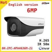 DAHUA Engish 6MP IP Camera IPC HFW4636M I1 1080P 1 2 9 CMOS Waterproof CCTV Security