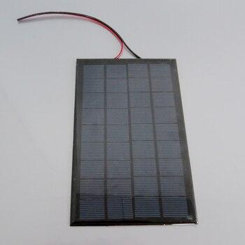 9 V 3 W الألواح الشمسية + 20 CM الأحمر-خط أسود الألواح الضوئية DIY شاحن