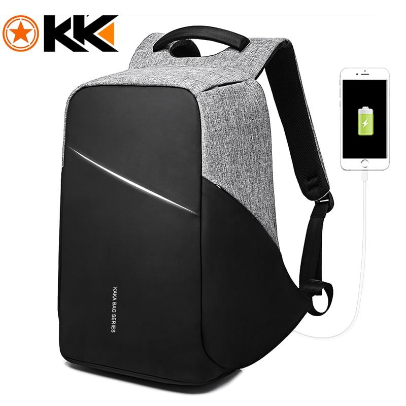 KAKA Anti theft USB Backpack Men 15 6 Laptop Backpack Waterproof Business Fashion Male Backpacks Schoolbag