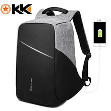 Рюкзак KAKA с защитой от кражи и USB портом для мужчин и женщин, водонепроницаемый деловой модный ранец для ноутбука 15,6 дюйма, школьный портфель