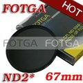 Оптовая продажа FOTGA 67 мм нейтральной плотности ND2 объектив фильтр винтами как зеленый L для канона Nikon Olympus камеры