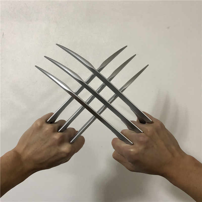 X Men-Wolverines Garra Garras de Wolverine Logan 1:1 Cosplay Lâmina Prop Pata Super Herói Armas Modelo Coleção 25cm