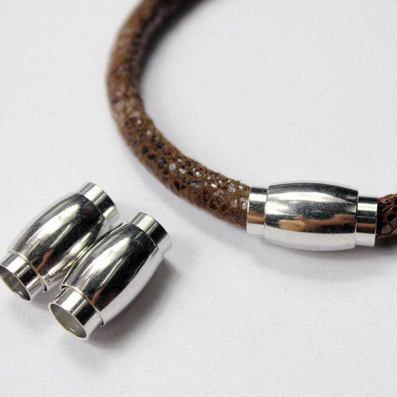 3 комплекта 7 мм отверстие серебро магнитная застежка с безопасным бар. 20 мм длинные