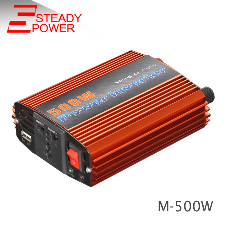 цена на 500 Watt inverter transformer 12v 24v dc to 220v ac 500w modified sine wave solar inverter for car 50HZ/60HZ