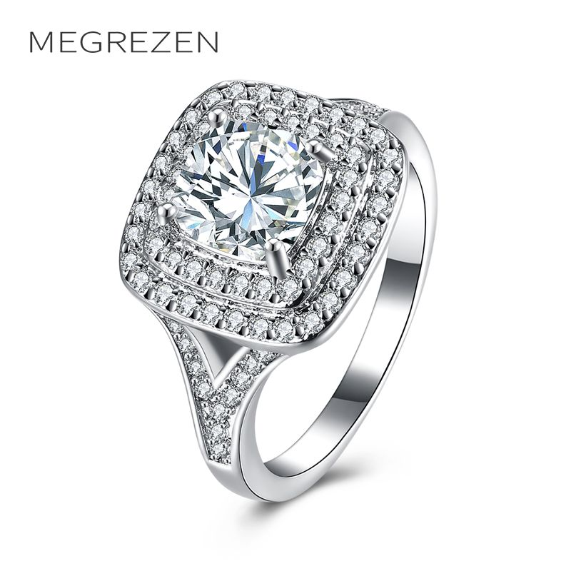 megrezen charms engagement ring with cubic zirconia turkish jewelry wedding rings for women anelli donna bijouterie - Turkish Wedding Ring
