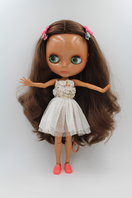 Free Shipping BJD joint RBL-233J DIY Nude Blyth doll birthday gift for girl 4 colour big eyes dolls with beautiful Hair cute toy цена