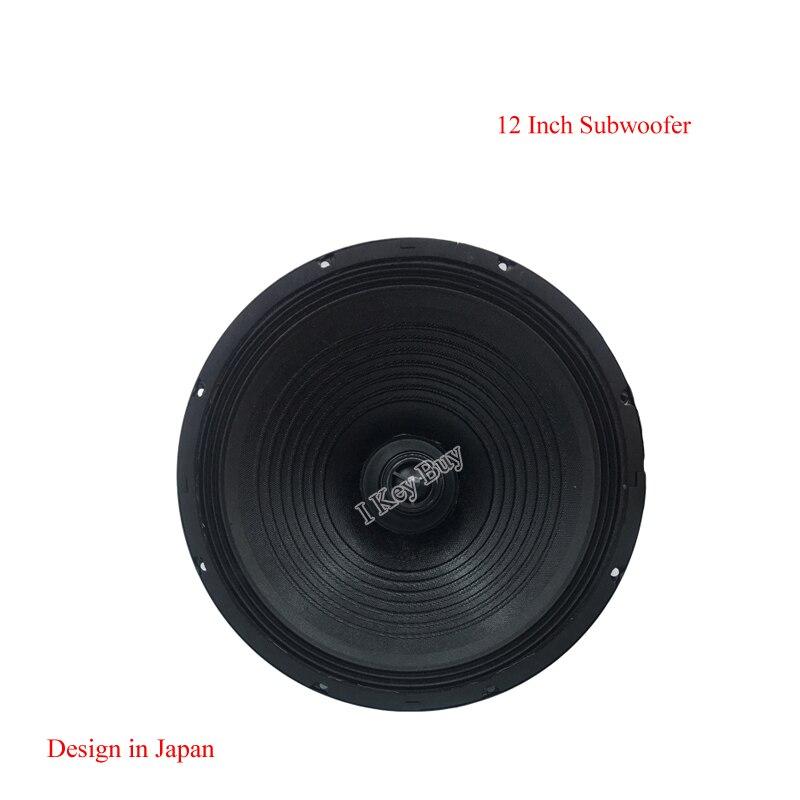 Caisson de basses 12 pouces avec haut-parleurs alimentés par Tweeter 600 W Max 80 W RMS Sub Bass 8 ohms gamme complète haut-parleur Surround en caoutchouc KTV Subwoofer
