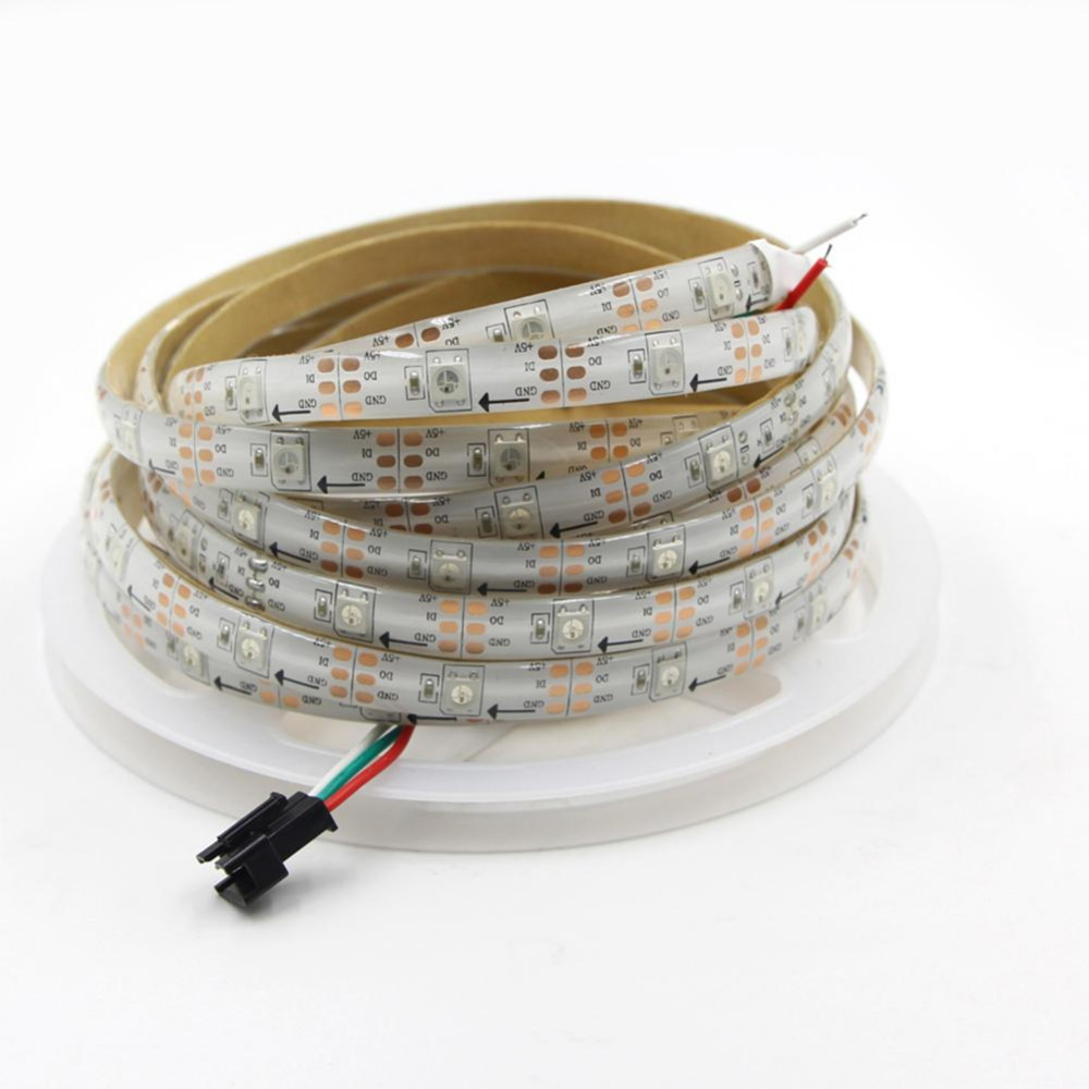 WS2812B 5050 RGB Flexible LED Strip 1M 144LED individually ...