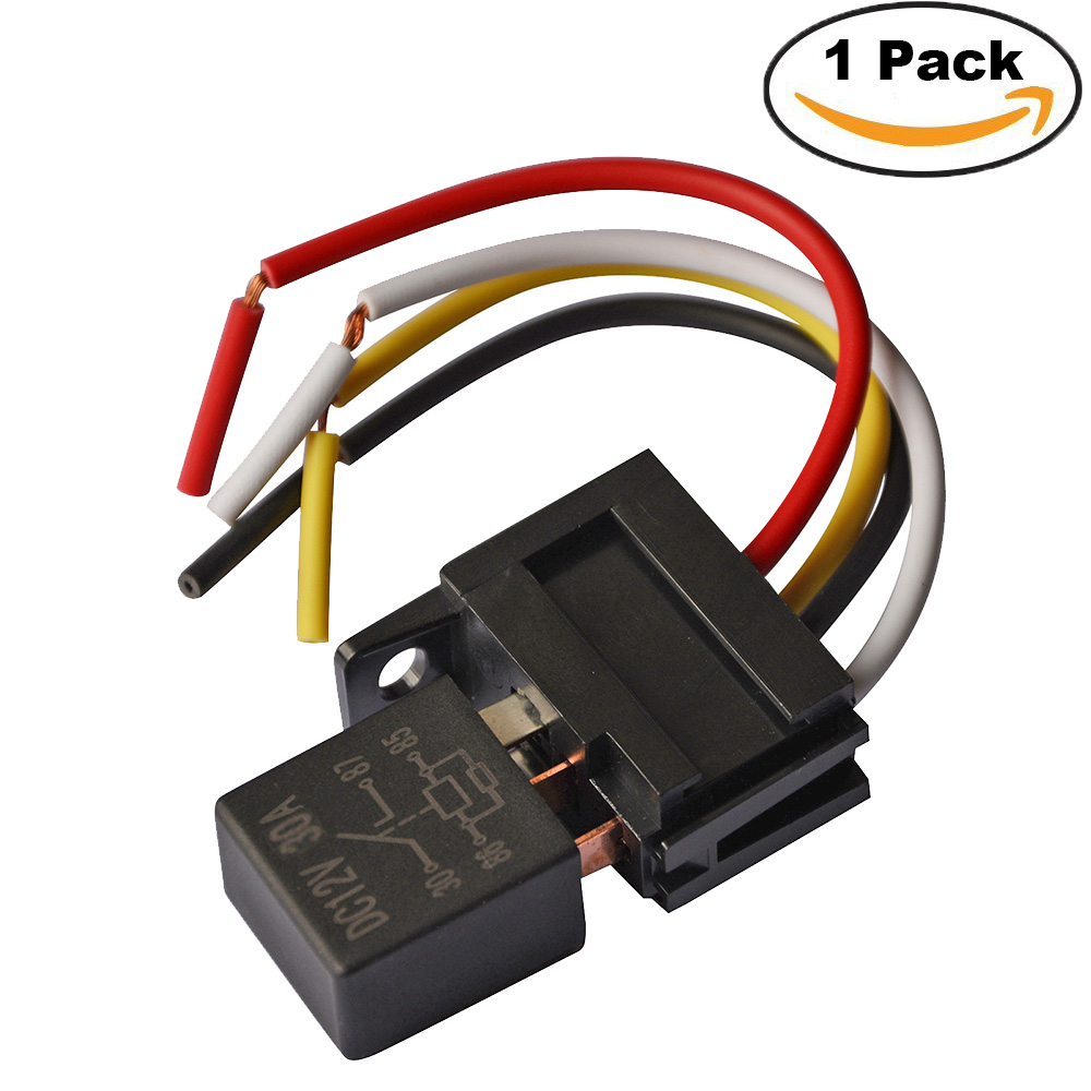 Kh Plastic Car Relays 12v 24v 30a 4 Pin Wires Automotive Fuse Cable Form C Relay Wiring Diagram Spst Pacakge 1pc Socket