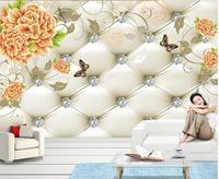 3D ванная комната обои пион фоне настенная живопись украшение дома фото 3d обои