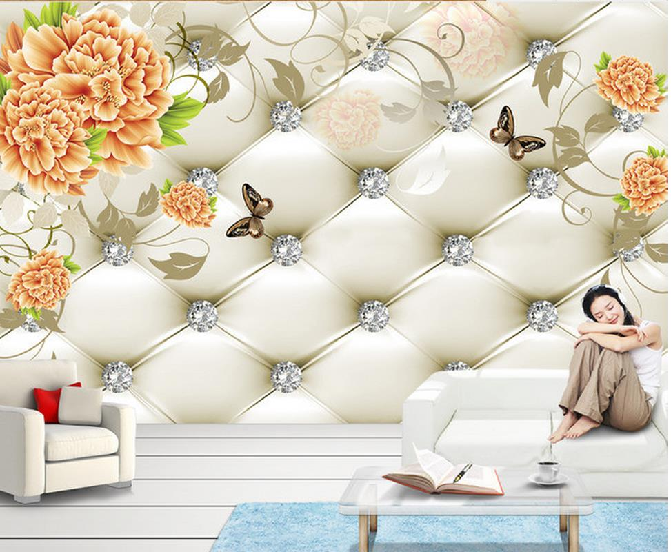 3d bathroom wallpaper Peony background wall painting Home Decoration photo 3d wallpaper free shipping retro female star mural background wall bathroom studio home decoration artistic studio bedroom wallpaper