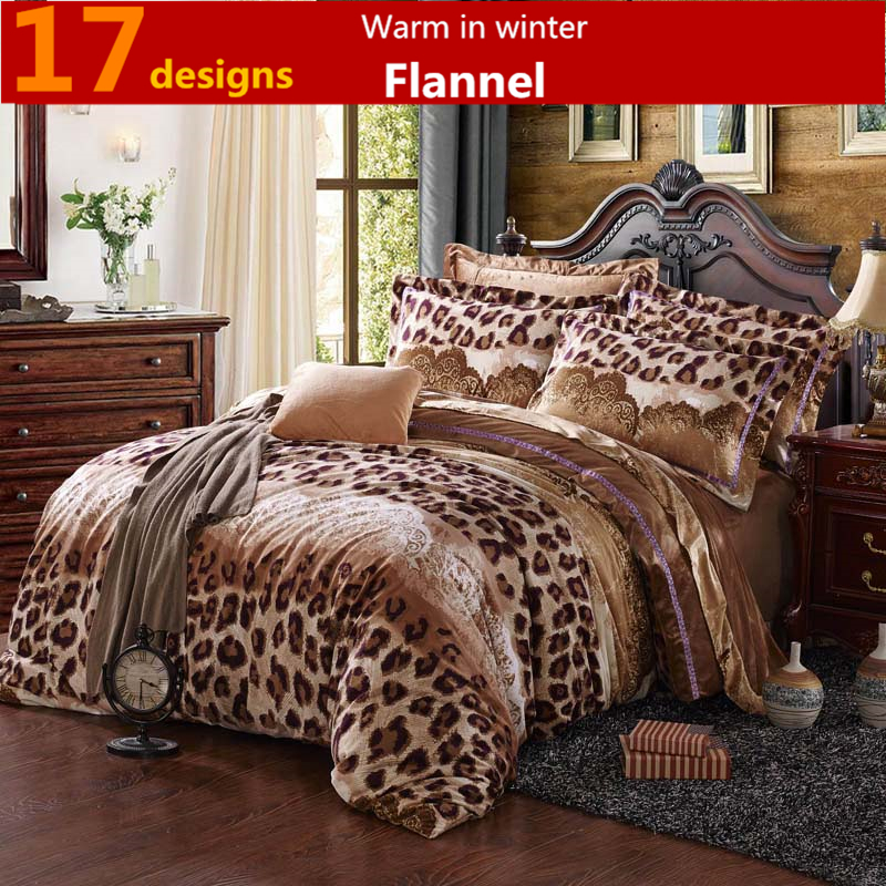 Bed Linen Thickening Velvet 4pcs Oriental Bedding Set Flannel Warm Bed  Cover Cama Comforter Set Duvet Cover Bed Sheet BedSpread In Bedding Sets  From Home ...