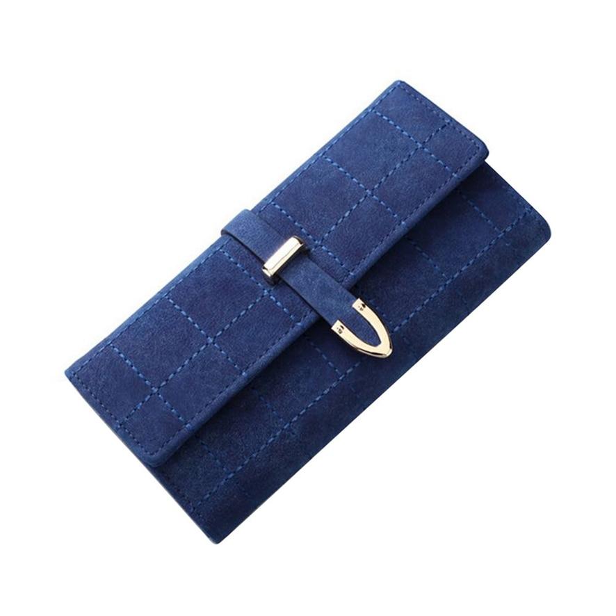 2018 NEWBrand Plaid Nubuck Leather Female Wallet Women Purse Coin Credit Card Holder Business Travel Lady Clutch Bag 919#30