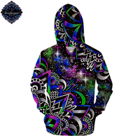 Doodle Dream By Brizbazzar Art 3D Print Zipper Hoodies Men Print Streetwear Sweatshirts Galaxy Space Hoodies