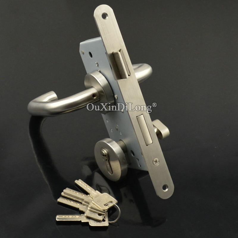European Mortise Door Lock 5572 55 72 Lock body Fire Proof Lock w Lock Cylinder Keys Handles in Locks from Home Improvement
