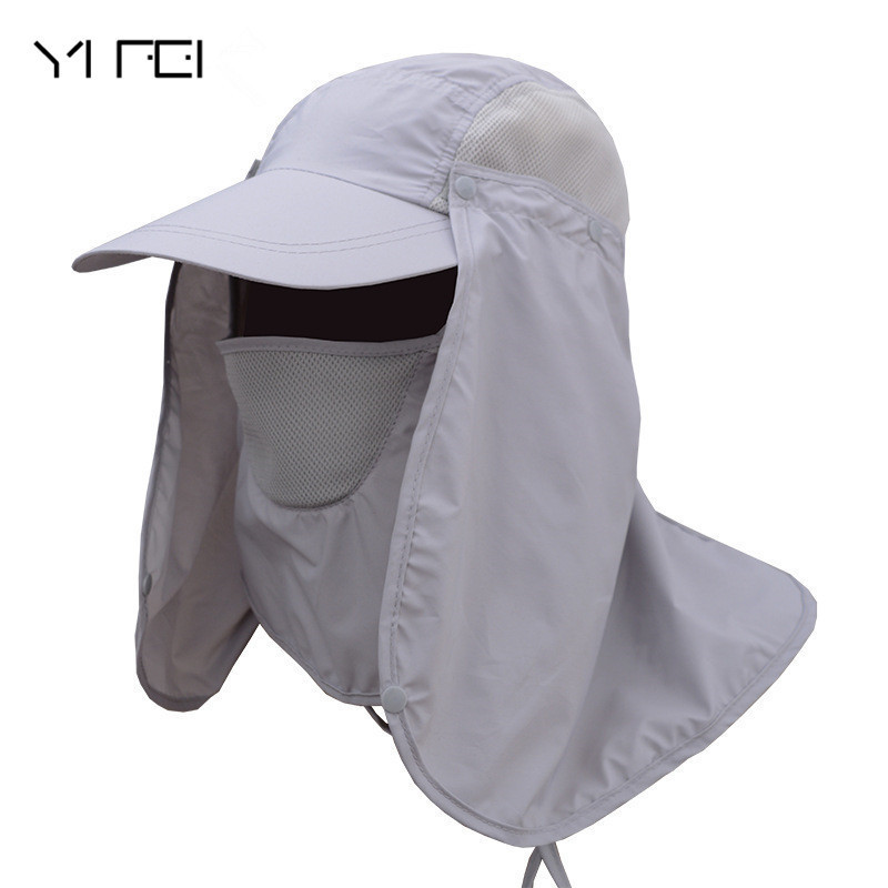 Men Outdoor Fisherman Hat Professional Summer Sun Hats Protection Cap Women Sunscreen Flap Hat Sun Mask Cap